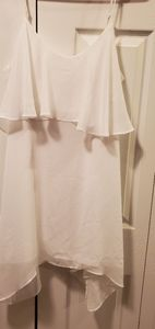 Bcbgeneration white ruffle dress small